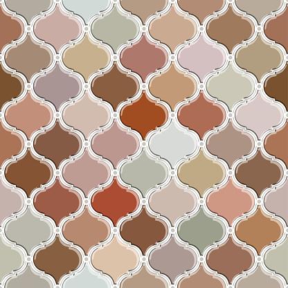seamless pattern of beige moroccan tiles