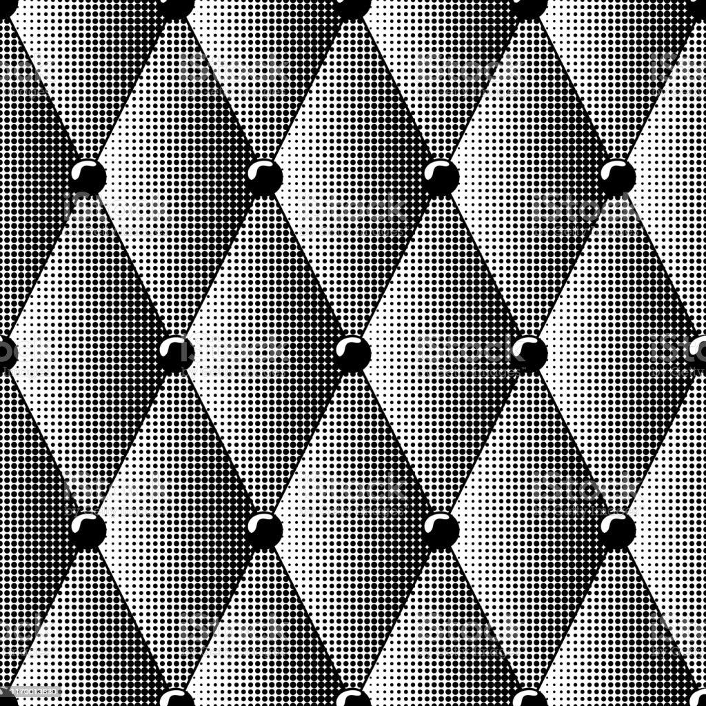 Seamless Pattern Distressed Black Diamond