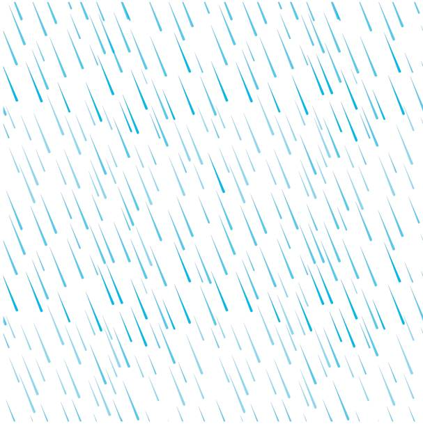 seamless pattern of blue rain water drops on white - rain stock illustrations, clip art, cartoons, & icons