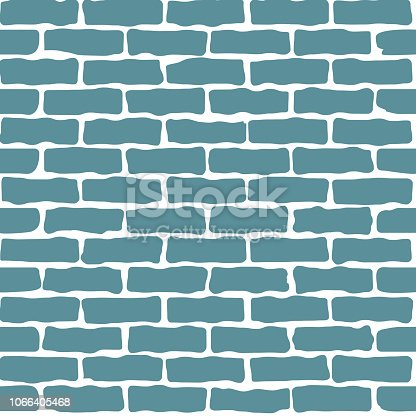 Seamless pattern of a cartoon brick wall.