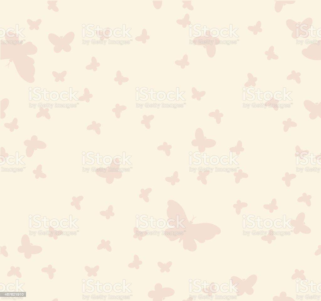 Ilustración de Patrón Sin Costuras De Mariposas En Un Fondo Beige y ...