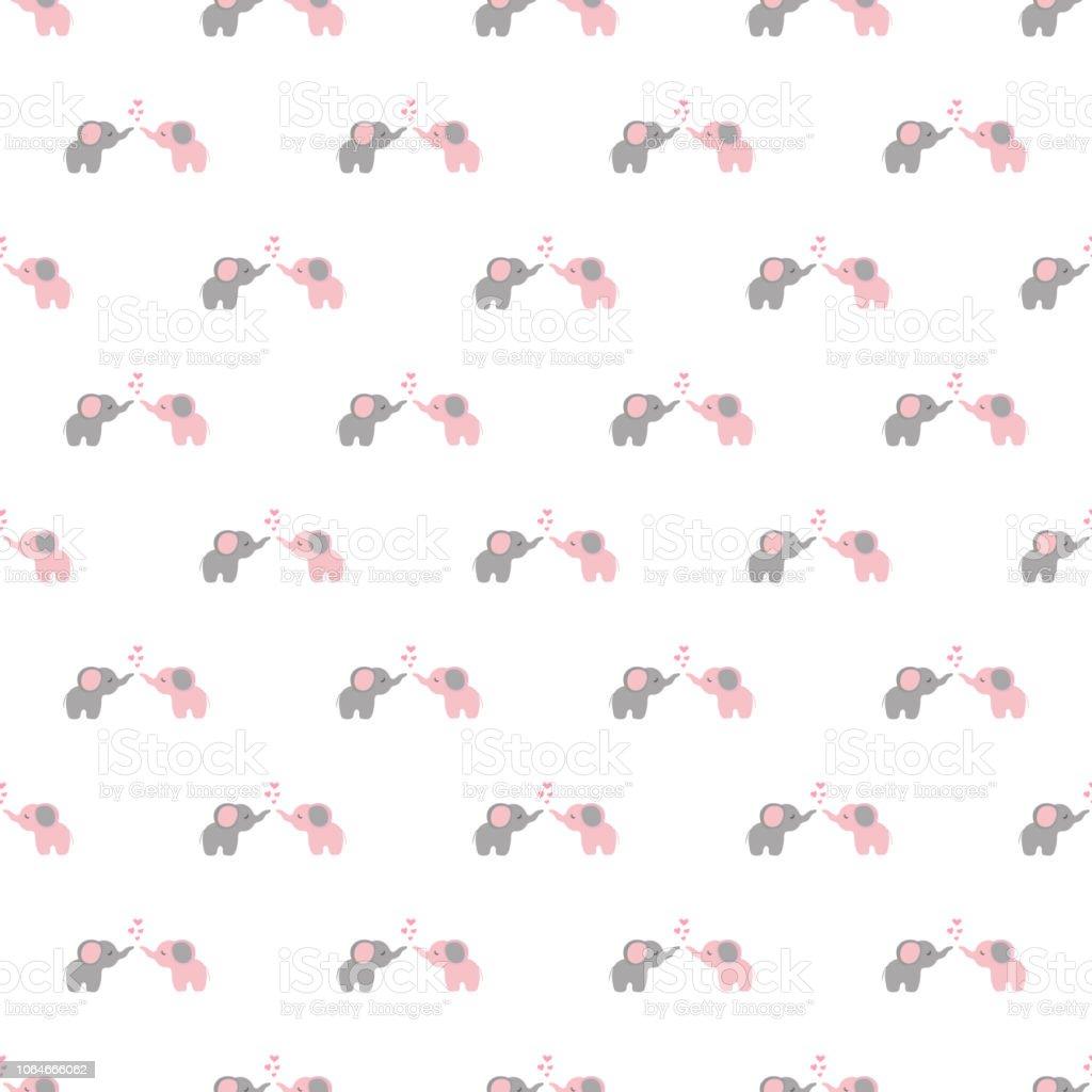Nahtlose Muster Cartoon Elefanten Stock Vektor Art Und Mehr Bilder