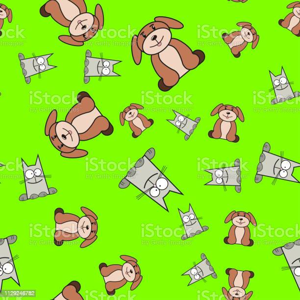 Seamless pattern of cats and dogs in in cartoon style vector id1129246782?b=1&k=6&m=1129246782&s=612x612&h=onrtl8r dz2sccjhr1xu sge0rspk1l2smwfyo3bjk8=