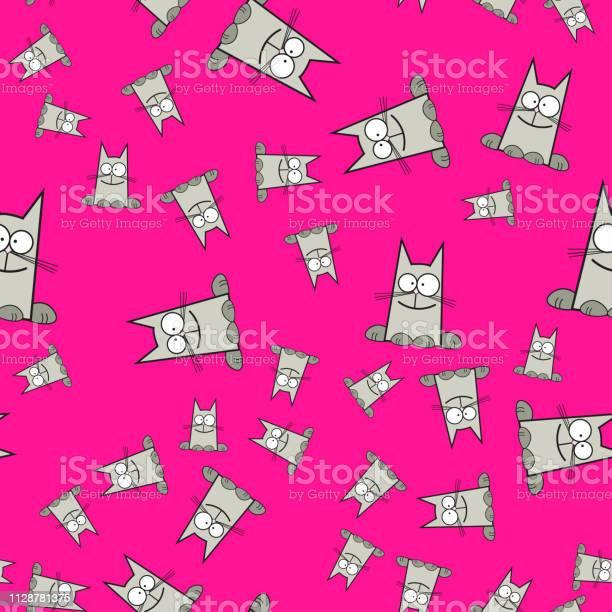 Seamless pattern of cats in cartoon style vector id1128781375?b=1&k=6&m=1128781375&s=612x612&h=f73pxeaop hycc6wvka8amgnpzl3rznee z1nenqtvg=