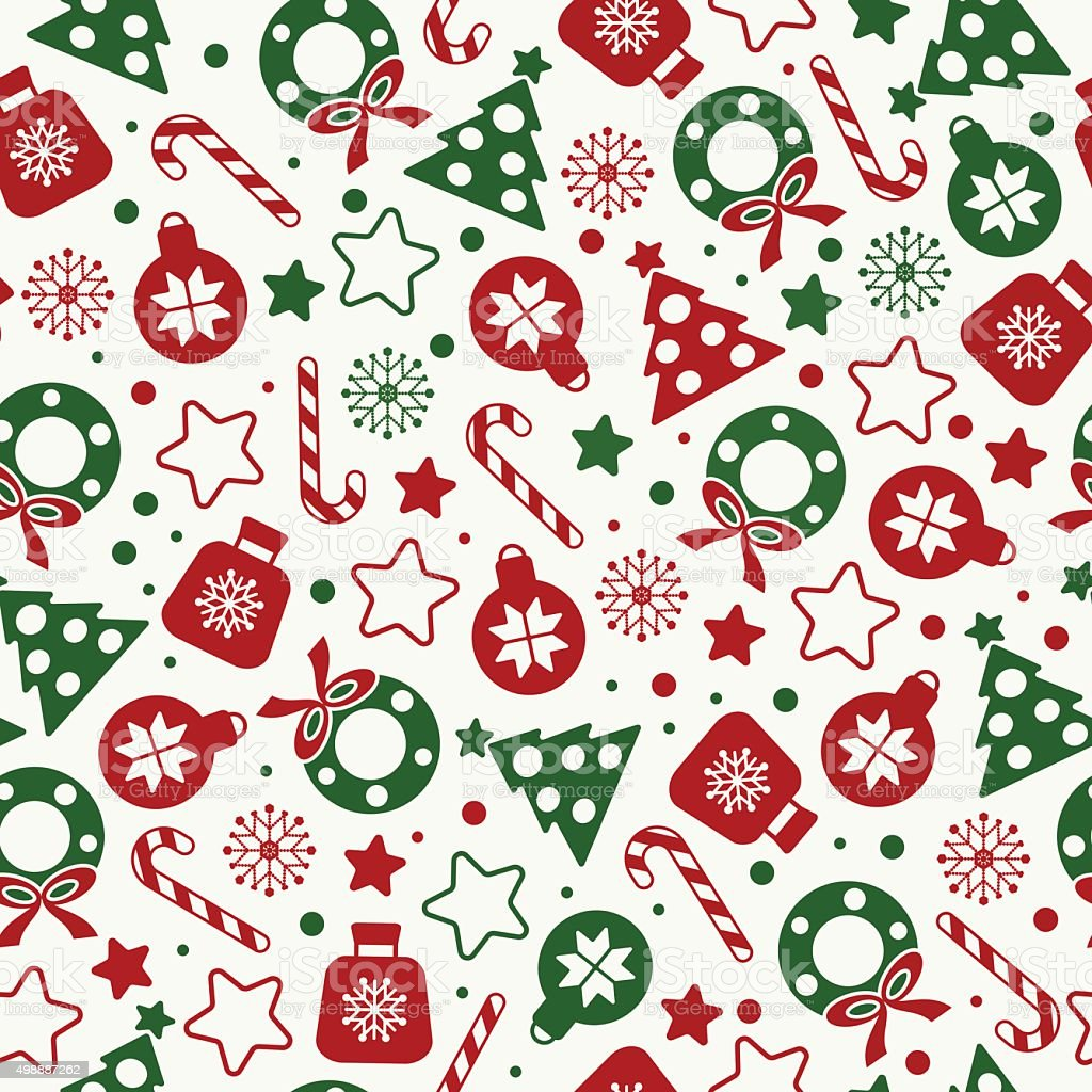 Christmas Texture.Seamless Pattern Of Christmas Texture Icons Stock