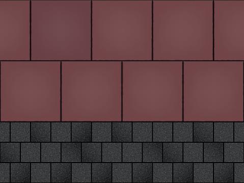 Seamless pattern of cobblestone pavement
