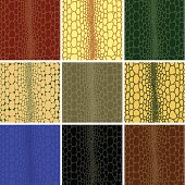 Seamless pattern of crocodile leather  texture. vector illustration.