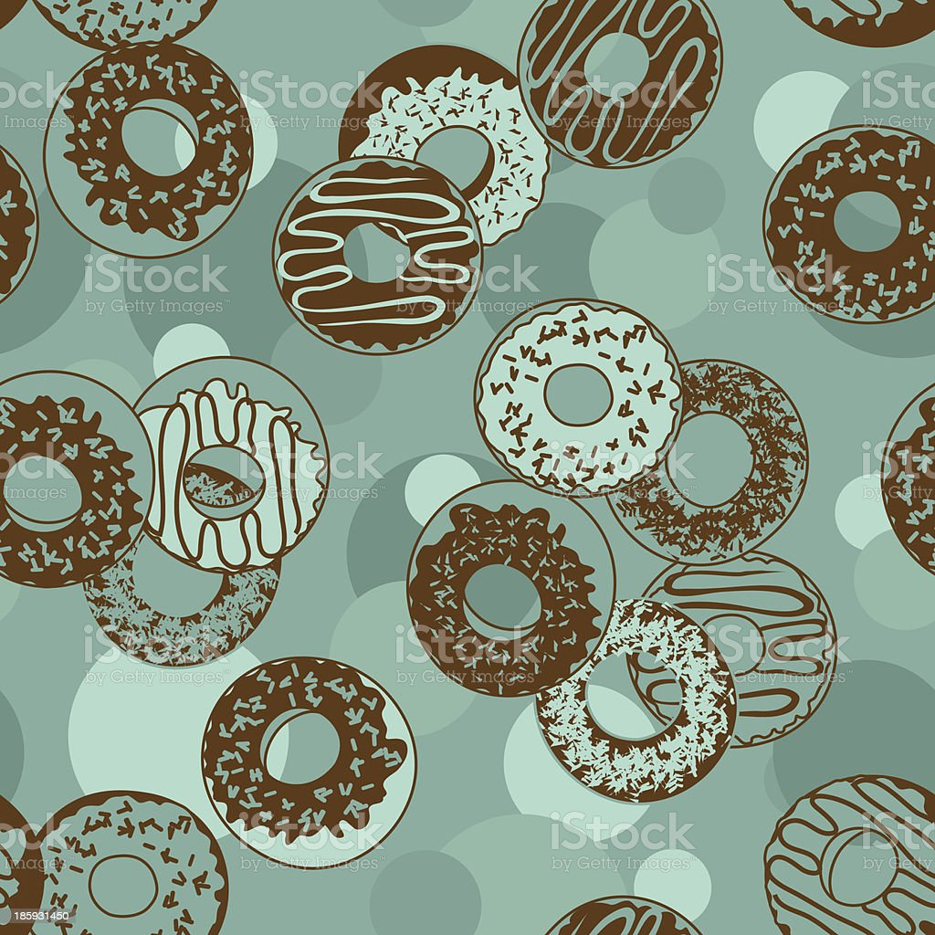 Seamless pattern of donuts royalty-free stock vector art