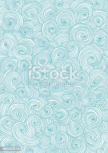Vector file of doodle swirls. One piece. Easy to change colour