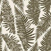 Seamless pattern of fern.