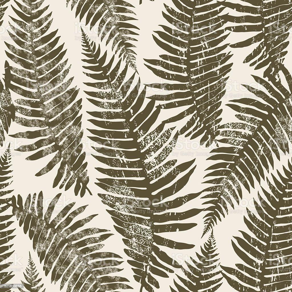 Seamless pattern of fern. vector art illustration