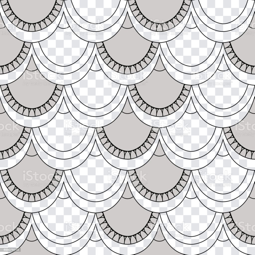 seamless pattern of fish scales light gray universal fish and