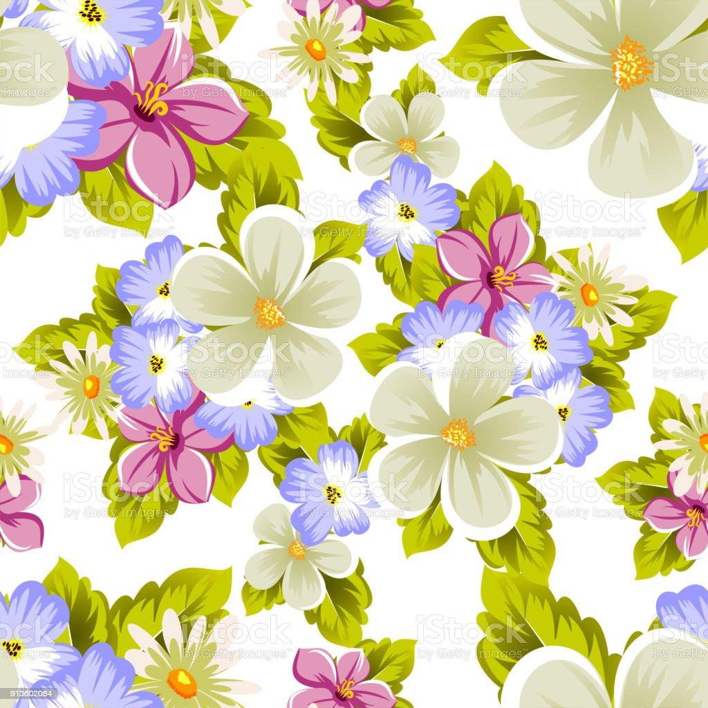 Seamless pattern of flowers for design textures postcards greeting seamless pattern of flowers for design textures postcards greeting cards for birthday izmirmasajfo
