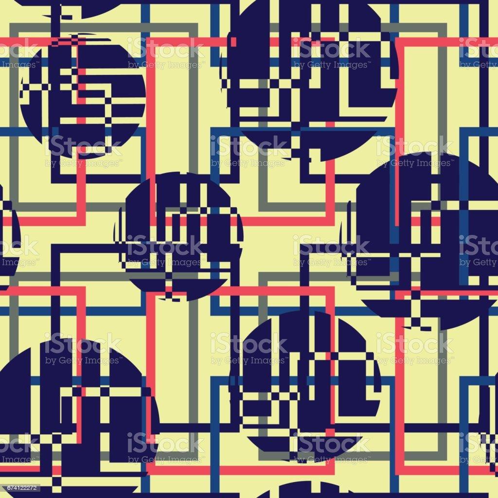 幾何圓的無縫模式 免版稅 幾何圓的無縫模式 向量插圖及更多 ink wash painting 圖片