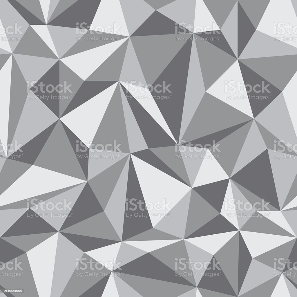 Seamless Pattern of geometric shapes vector art illustration