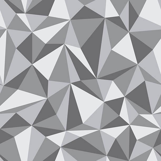 Seamless Pattern of geometric shapes vector art illustration