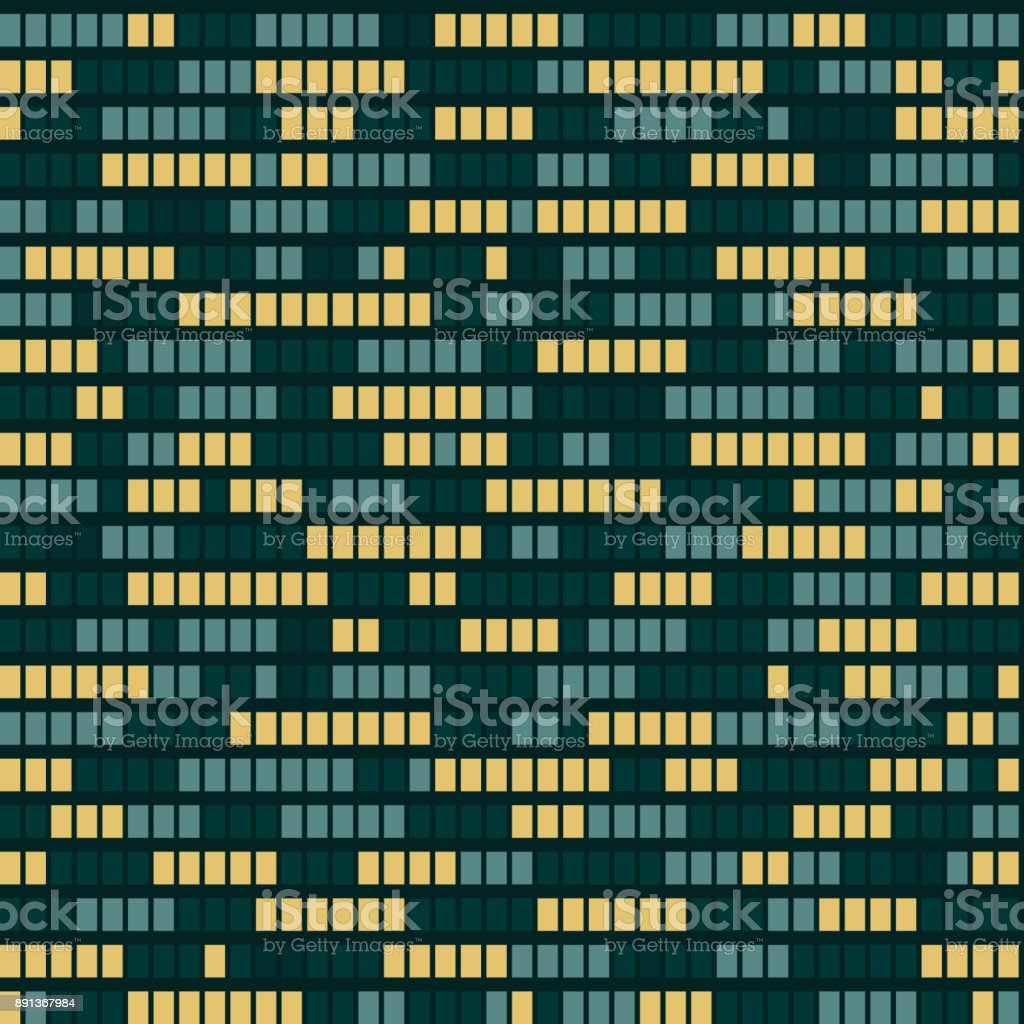 Seamless Pattern Of Glowing Windows A Night City Vector Tiled Texture Royalty Free