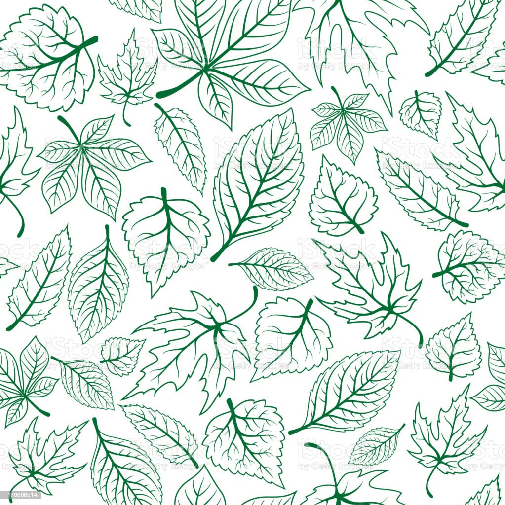 Seamless pattern of green leaves royalty-free seamless pattern of green leaves stock vector art & more images of backdrop