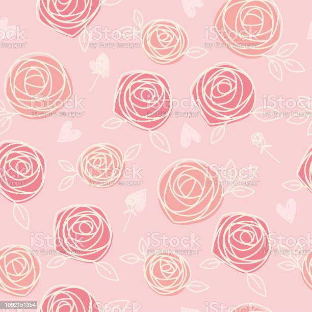 Seamless pattern of hand drawn roses and hearts vector id1092151354?b=1&k=6&m=1092151354&s=612x612&h=vyg vikrbpxwymcwn0w1ne ckbddajxsdgn5oyeexsg=