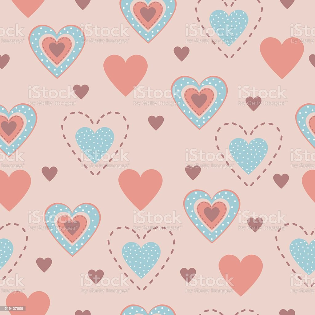 Seamless pattern of hearts royalty-free seamless pattern of hearts stock vector art & more images of abstract
