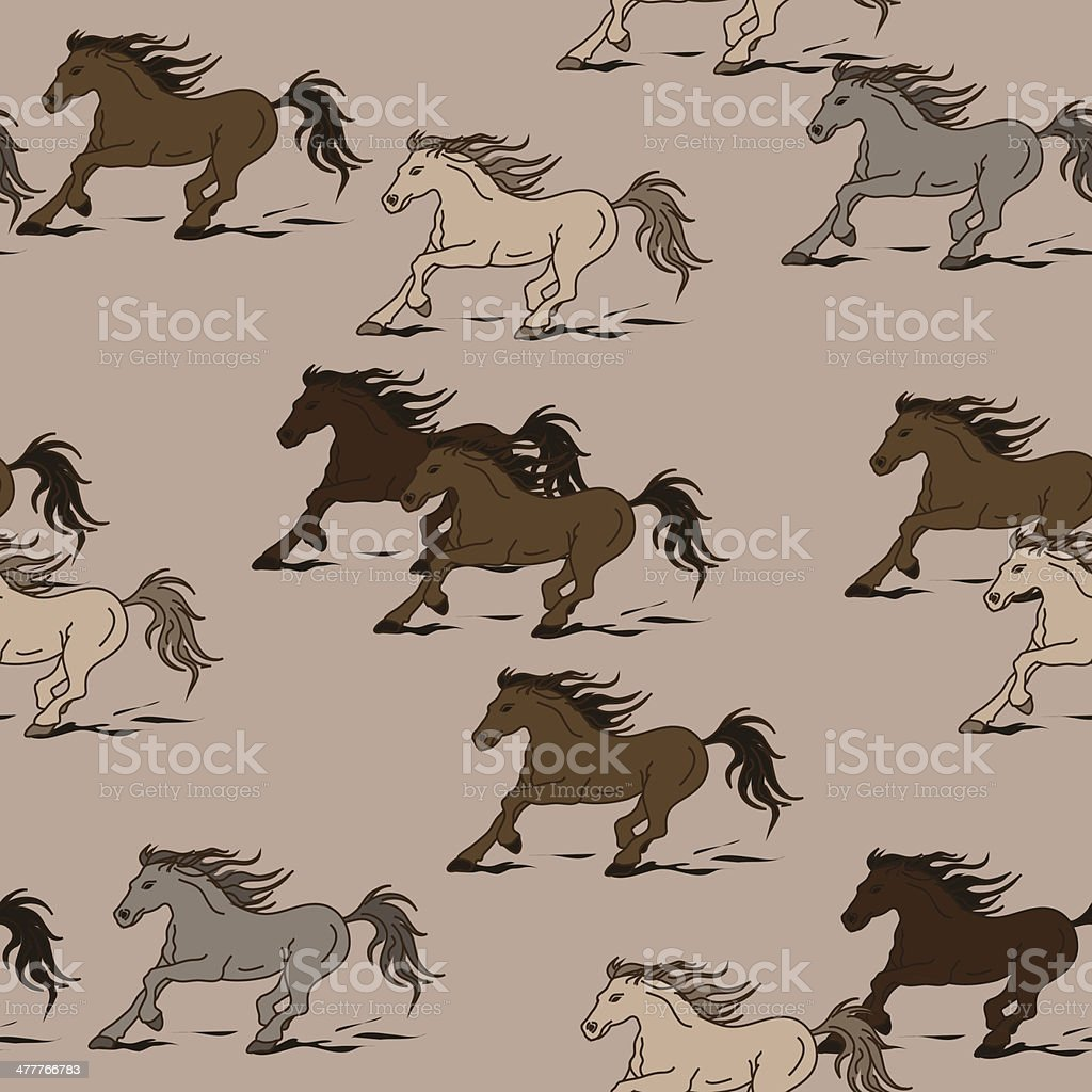 Seamless pattern of horses royalty-free seamless pattern of horses stock vector art & more images of animal
