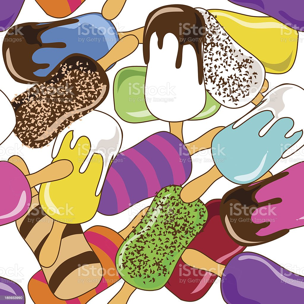 Seamless pattern of ice cream royalty-free seamless pattern of ice cream stock vector art & more images of backgrounds