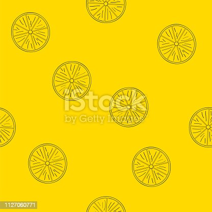istock Seamless pattern of lemons. 1127060771