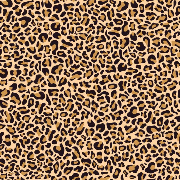 illustrazioni stock, clip art, cartoni animati e icone di tendenza di motivo senza cuciture di pelle di leopardo - fauna selvatica