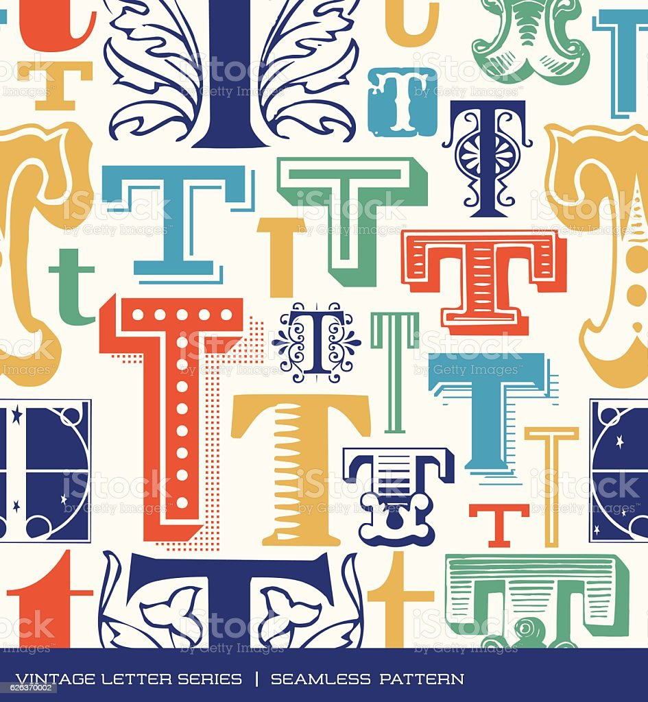 Royalty Free Fancy Letter T Backgrounds Clip Art Vector Images