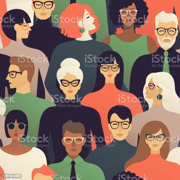Seamless pattern of many different people profile heads vector vector id1067844380?b=1&k=6&m=1067844380&s=612x612&h=lz6jlrpywmwey1dhldpvnhtislv2ucl1acilo8wyqvg=