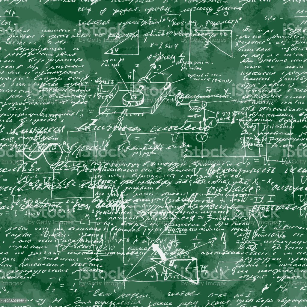 Seamless Pattern Of Mathematical Operation And Equation Endless