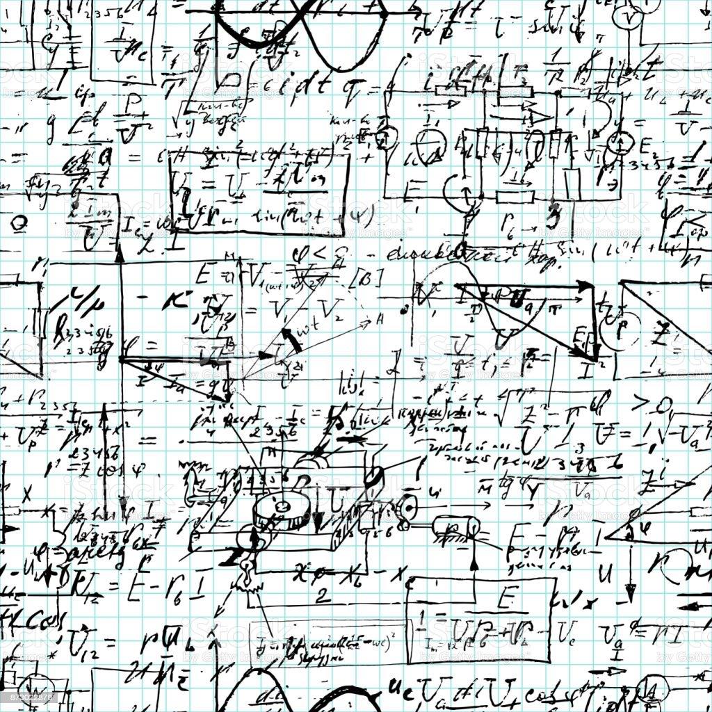 Nahtlose Muster Der Mathematischen Operation Und Gleichung Endlose ...