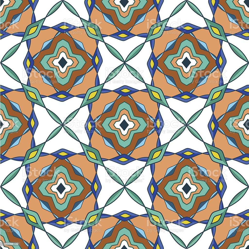 Seamless pattern of Moroccan mosaic royalty-free stock vector art