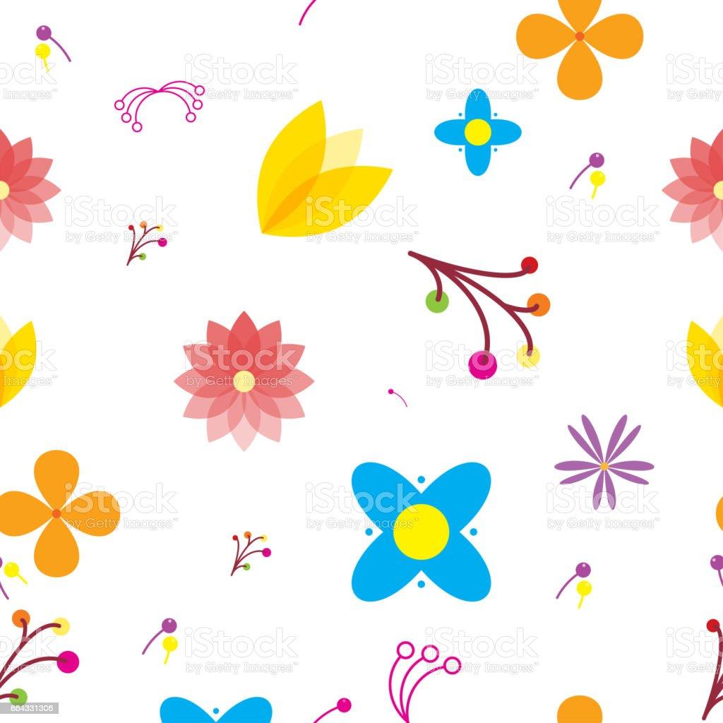 Ilustración De Patrón Sin Fisuras De Múltiples Flores Y Fondo