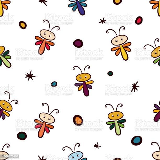Seamless pattern of multicolored cartoon dragonflies vector id1066475282?b=1&k=6&m=1066475282&s=612x612&h=f3bqcp3pqyd9eqou8rpeis6amaq4go0mfwzepzjwrc8=