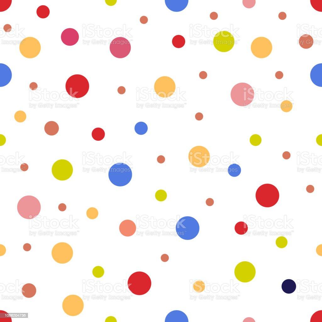 Nahtlose Muster Aus Bunten Kreisen Stock Vektor Art Und Mehr Bilder