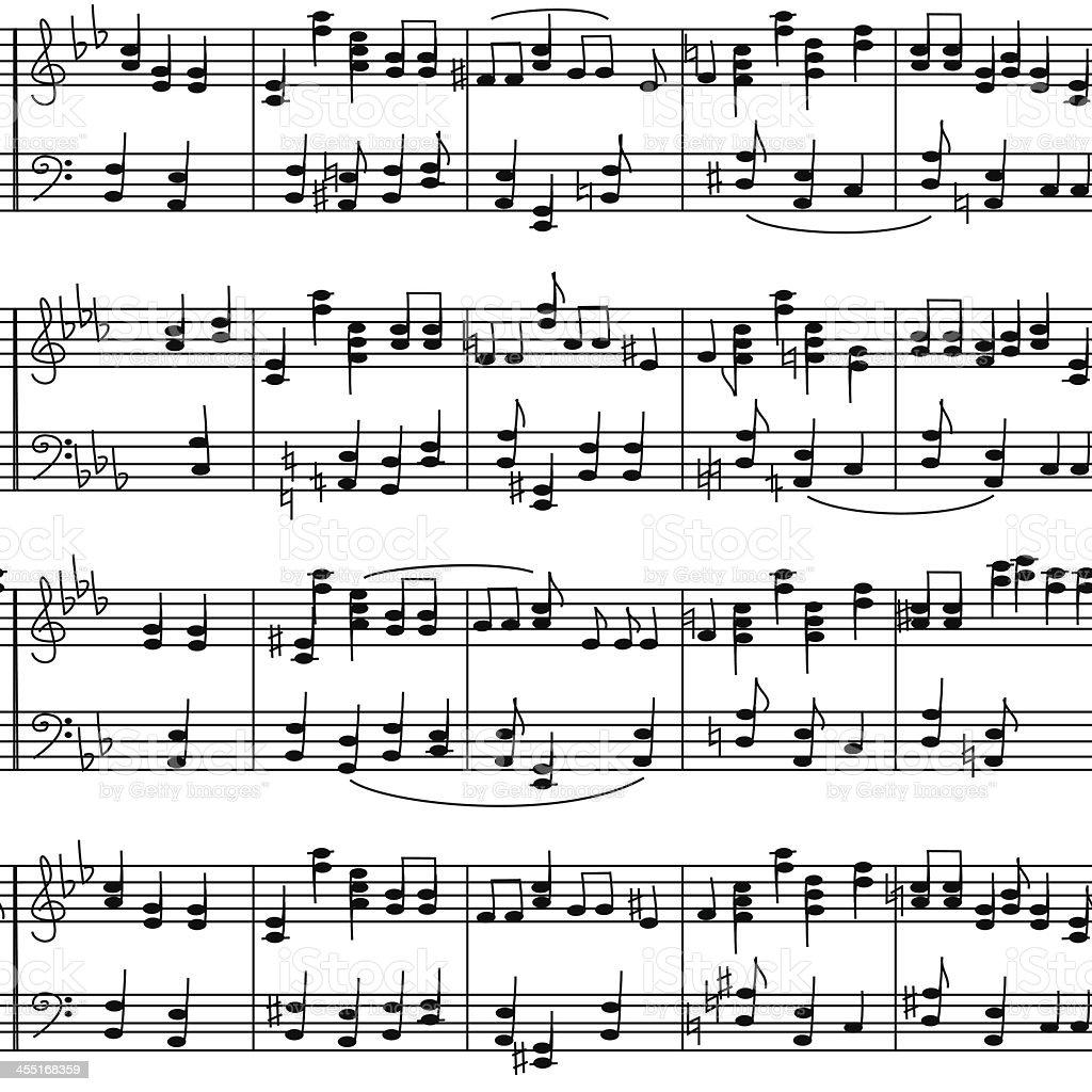 Wzór bez szwu Muzyka notatki klepkowy - Grafika wektorowa royalty-free (Akord)