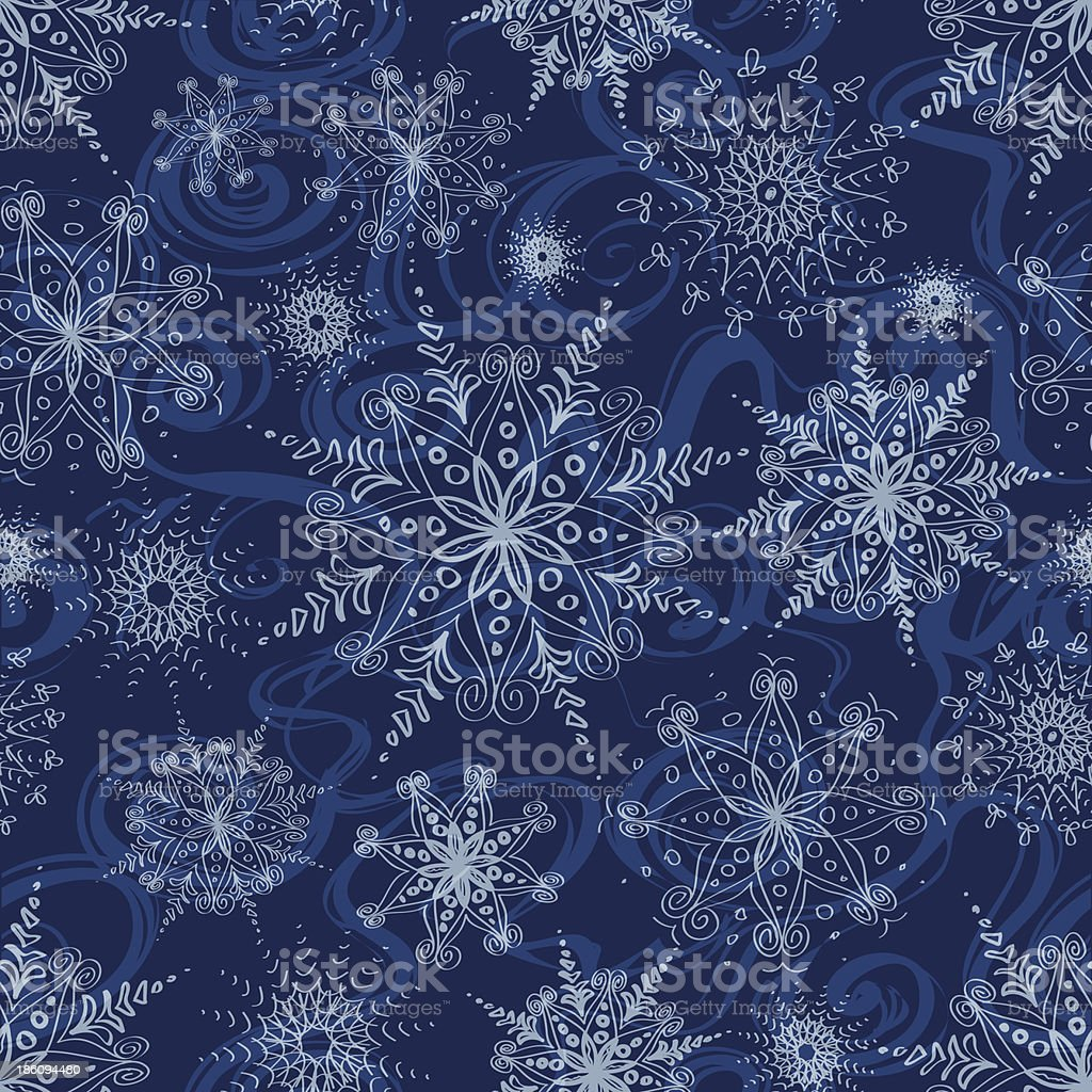 Seamless pattern of openwork snowflakes royalty-free seamless pattern of openwork snowflakes stock vector art & more images of art