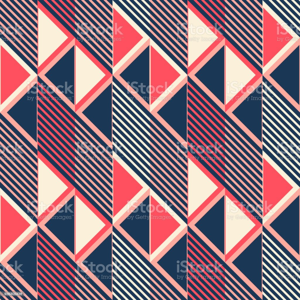 Nahtlose Muster Des Parallelogramms Fliesen In Retrofarben Stock