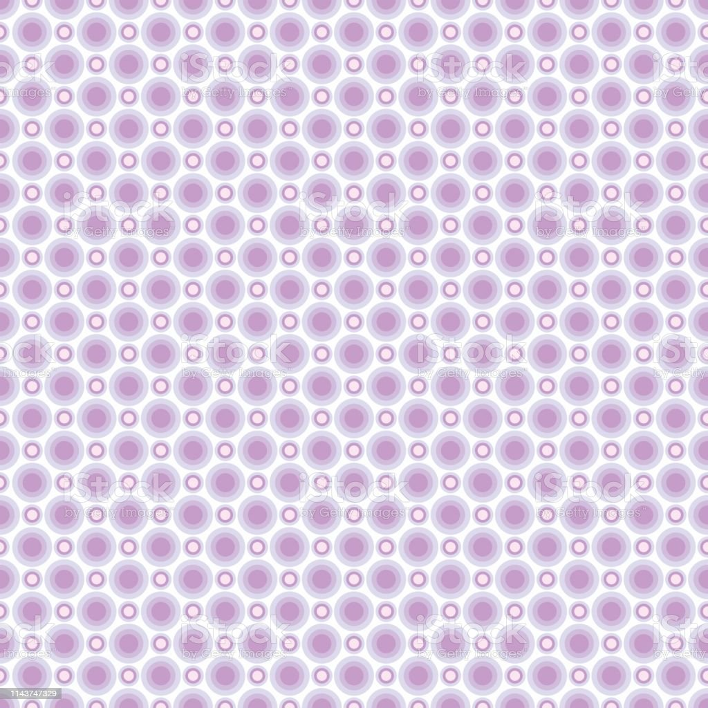 Seamless Pattern Of Pastel Light Lilac Circles Background For ...