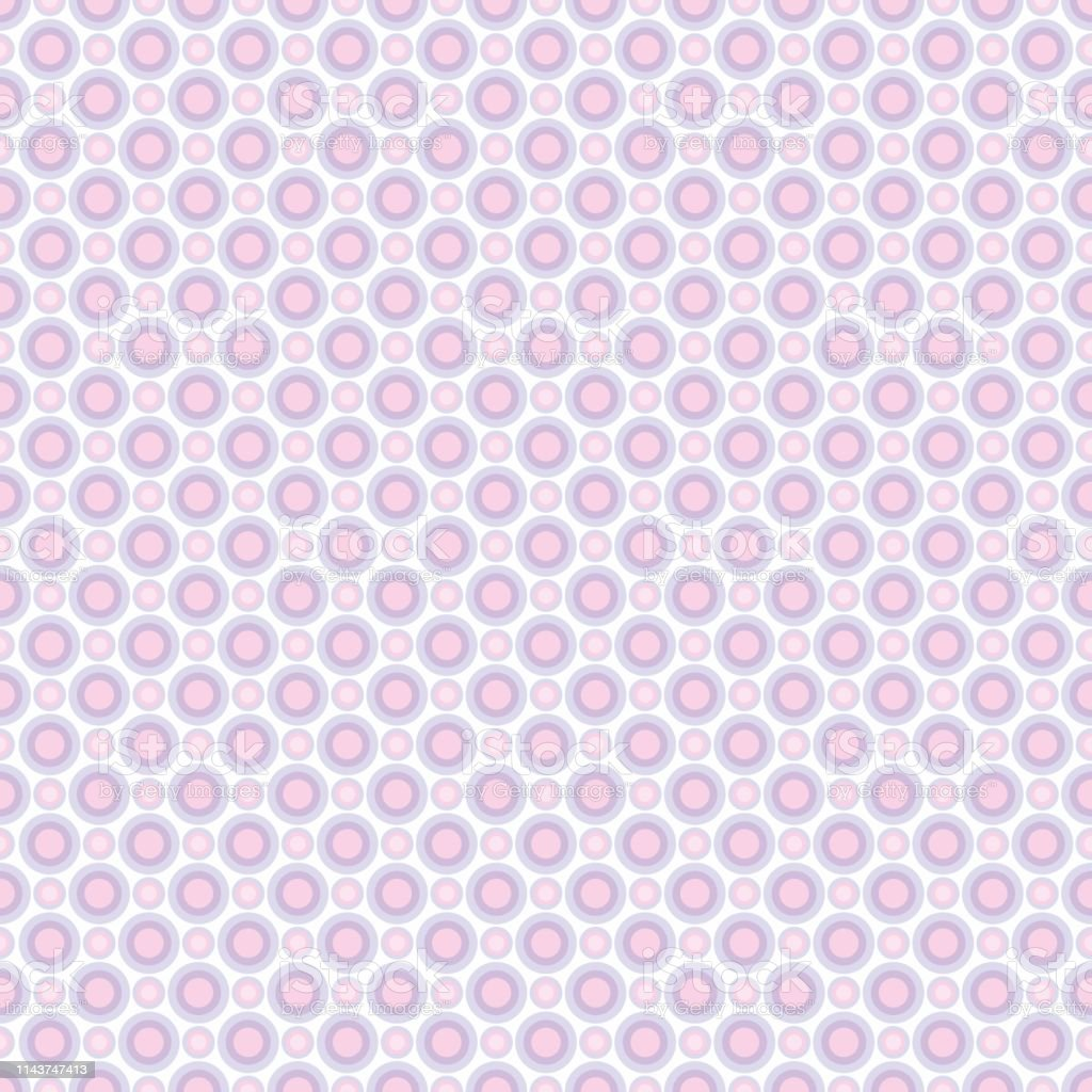 Seamless Pattern Of Pastel Lilac And Pink Circles Background For ...
