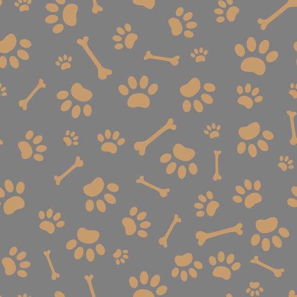 足の印刷物と骨のシームレスなパターン。 - 骨点のイラスト素材/クリップアート素材/マンガ素材/アイコン素材