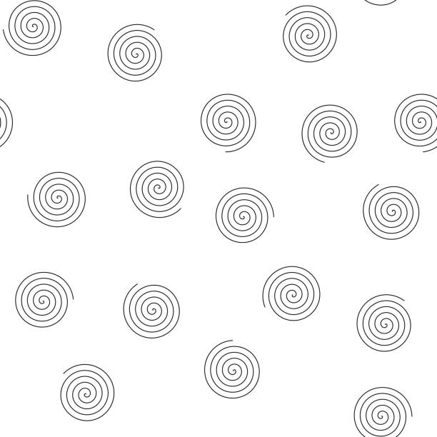 Seamless pattern of random spirals. Abstract vector background Seamless pattern of random spirals. Abstract vector background. spiral stock illustrations