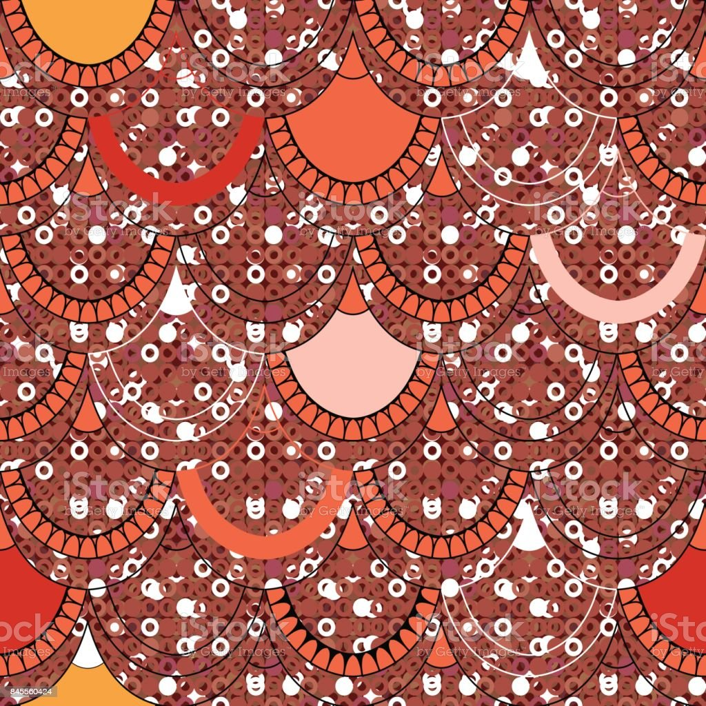 A Seamless Pattern Of Scales On A Background Of Shiny Sequins In ...
