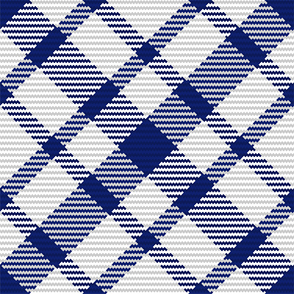 Seamless pattern of scottish tartan plaid. Repeatable background with check fabric texture. Vector backdrop striped textile print.