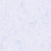 Seamless pattern of skate track on ice rink from figure skating. Monochrome blue, grey and white scratched background. Winter frosty print. Wallpaper from hand drawn traced contour line drawing
