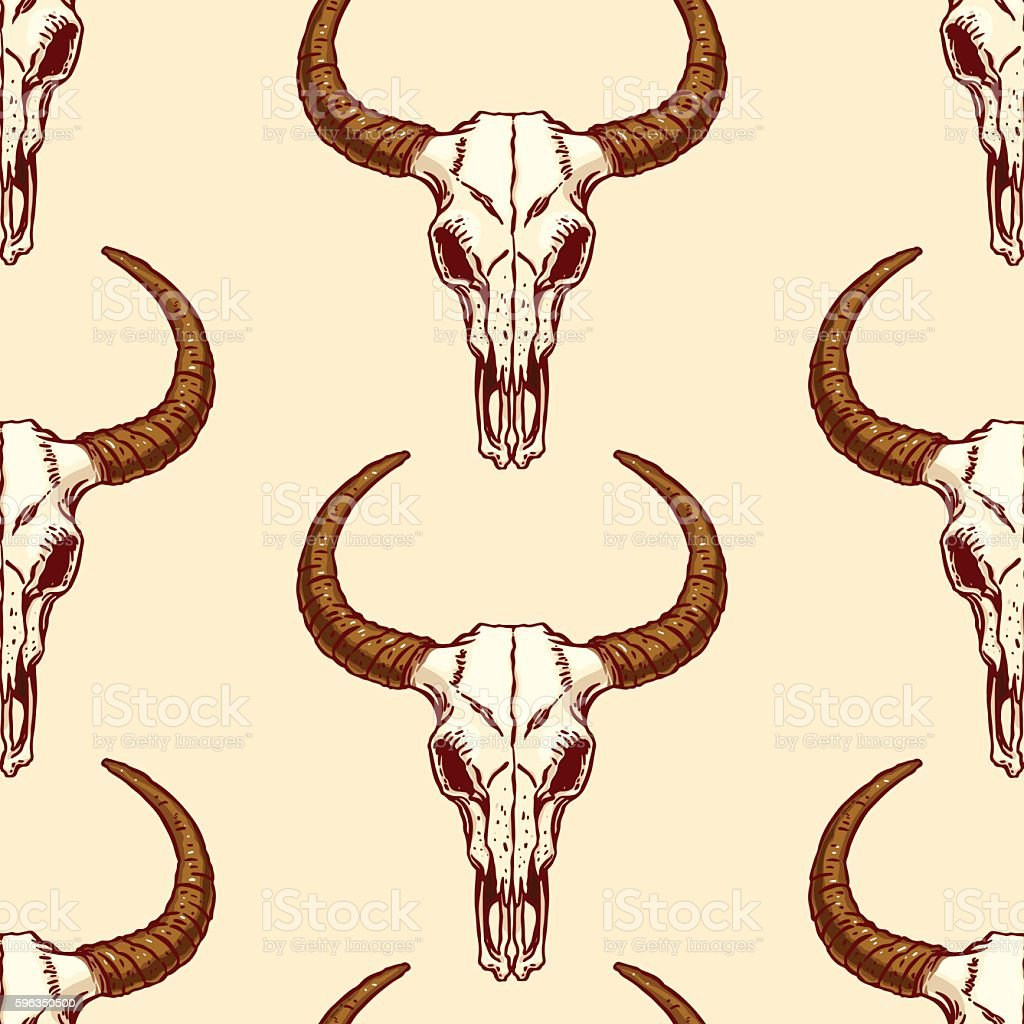 seamless pattern of skulls bull royalty-free seamless pattern of skulls bull stock vector art & more images of african culture