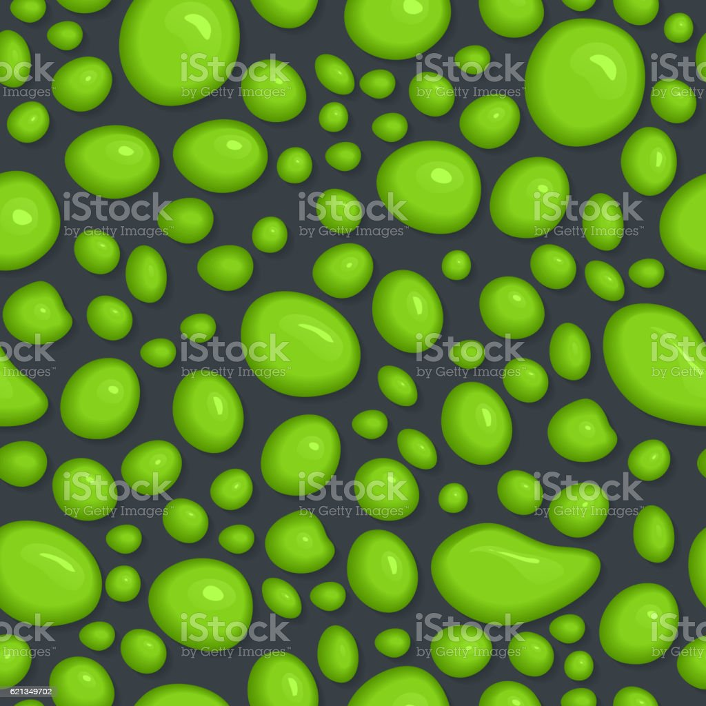 Seamless pattern of slime drops. vector art illustration