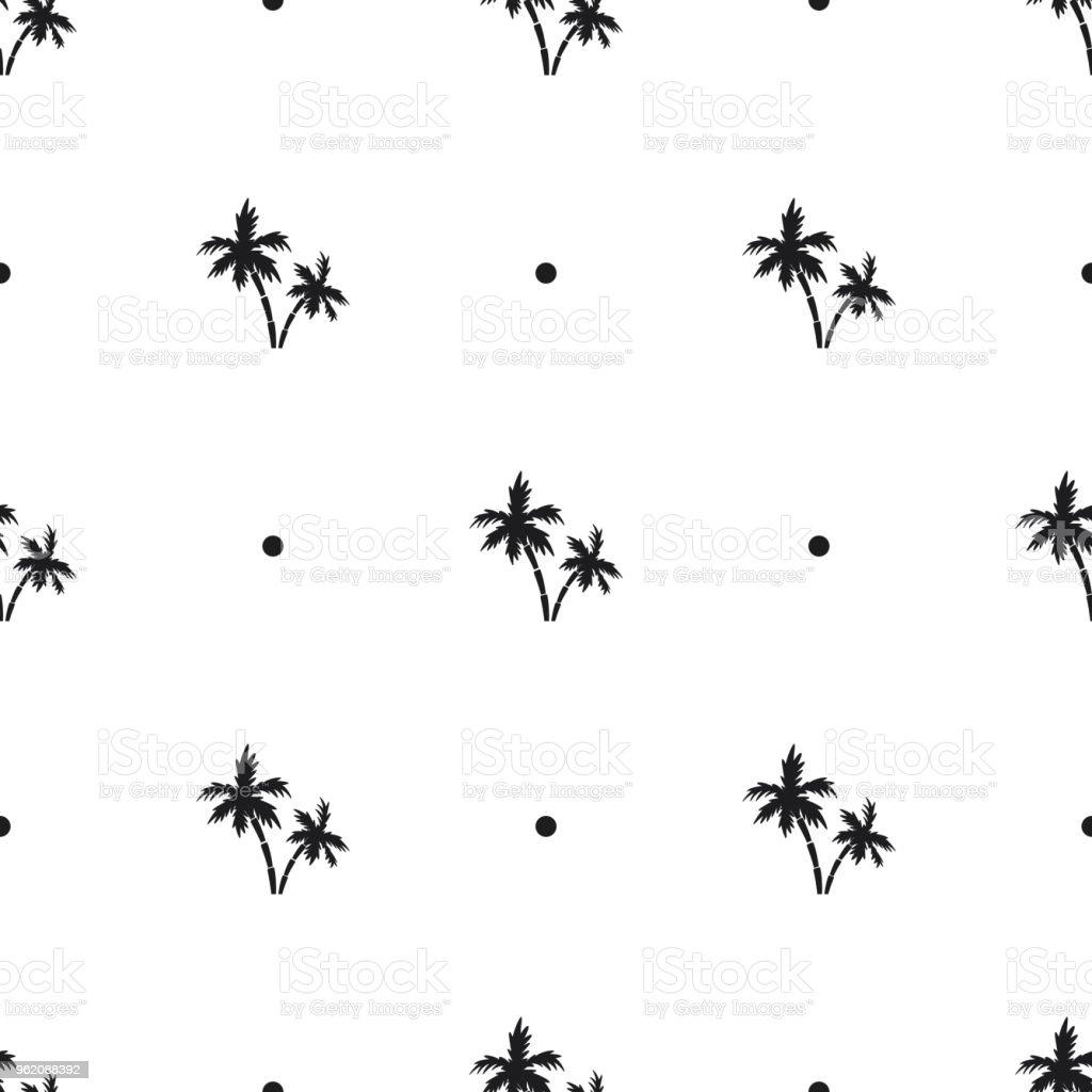 Ilustración de Patrón Sin Fisuras De Palmeras Negras Pequeñas Y ...