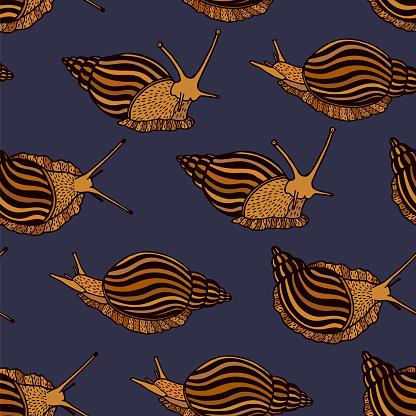Seamless pattern of Snail.